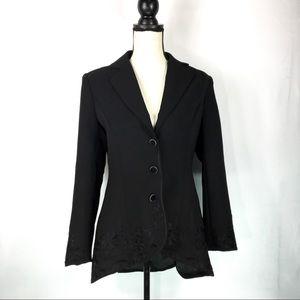 Soft Surroundings Label Noir Jacket Blazer Small